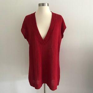 Eileen Fisher Knit Italian Yarn Vest Sweater